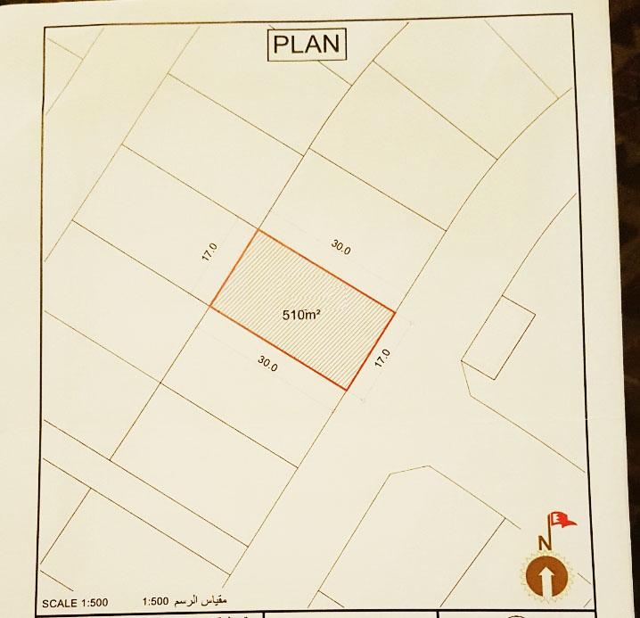 For sale residential land in Diyar Al Muharraq. Ref: DIY-MH-029