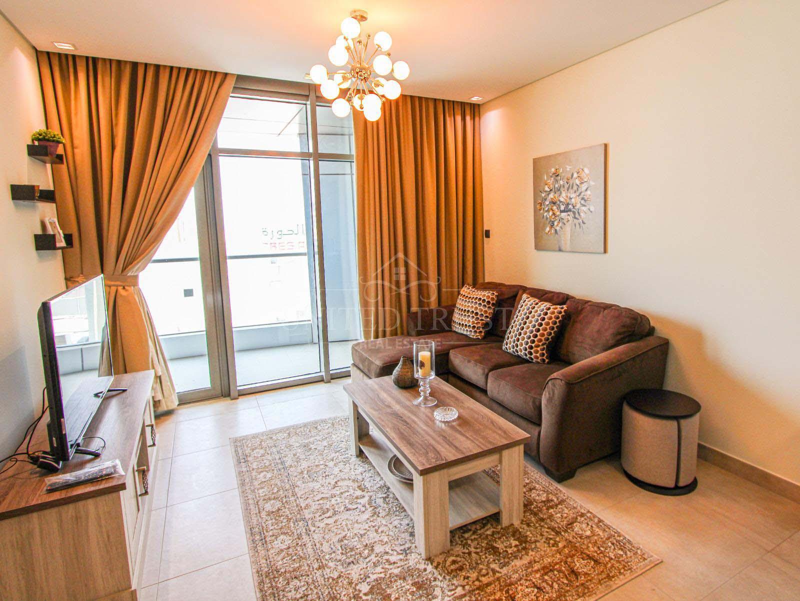 For rent a fully furnished 1 bedroom flat in Hoora Ref: HOO-AZ-002
